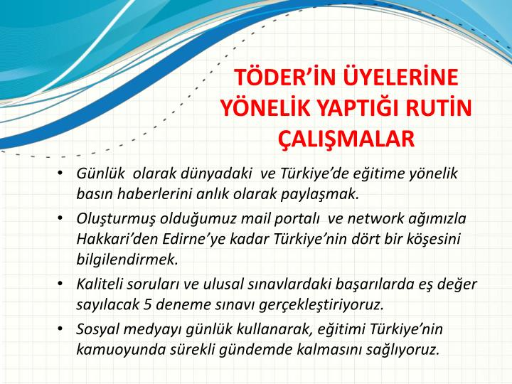 Günlük  olarak dünyadaki  ve Türkiye'de eğitime yönelik basın haberlerini anlık