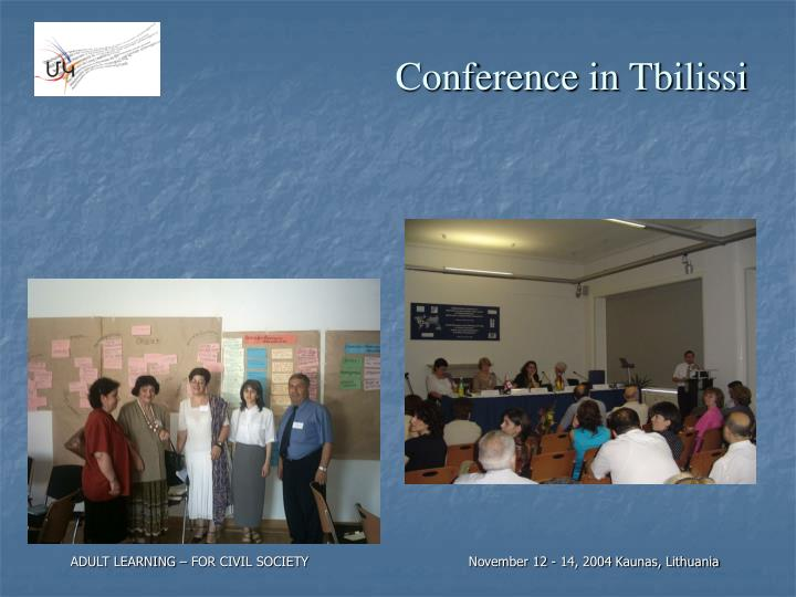Conference in Tbilissi