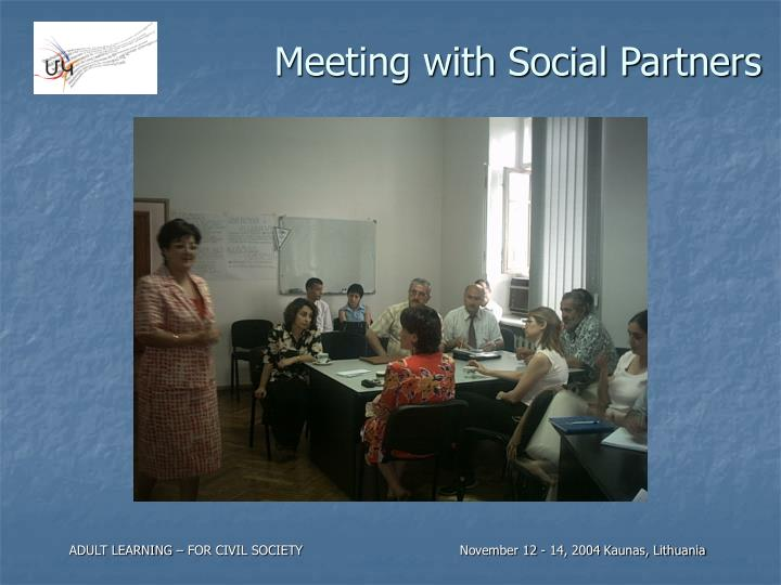 Meeting with Social Partners