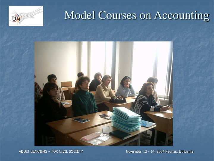 Model Courses on Accounting