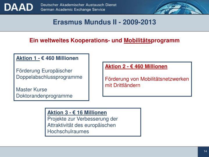 Erasmus Mundus II - 2009-2013