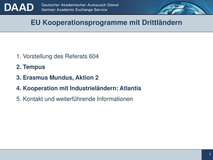 EU Kooperationsprogramme mit Drittländern