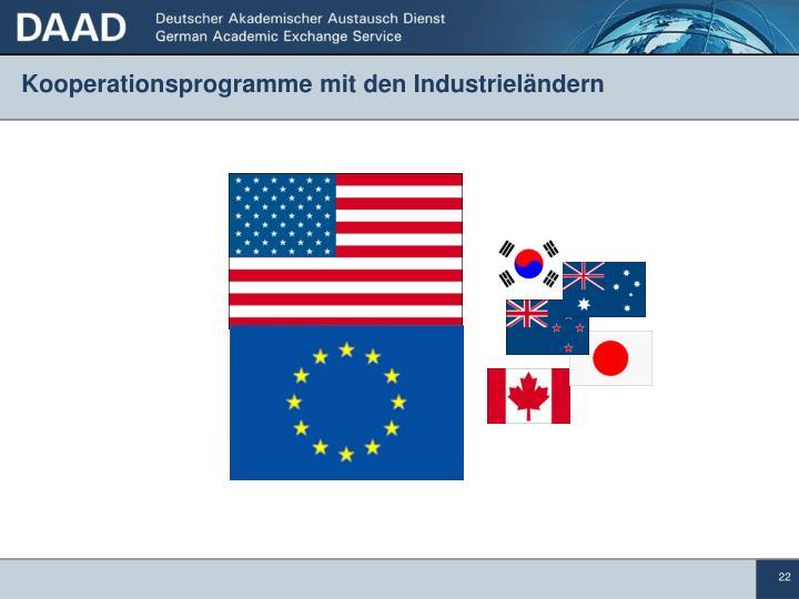 Kooperationsprogramme mit den Industrieländern