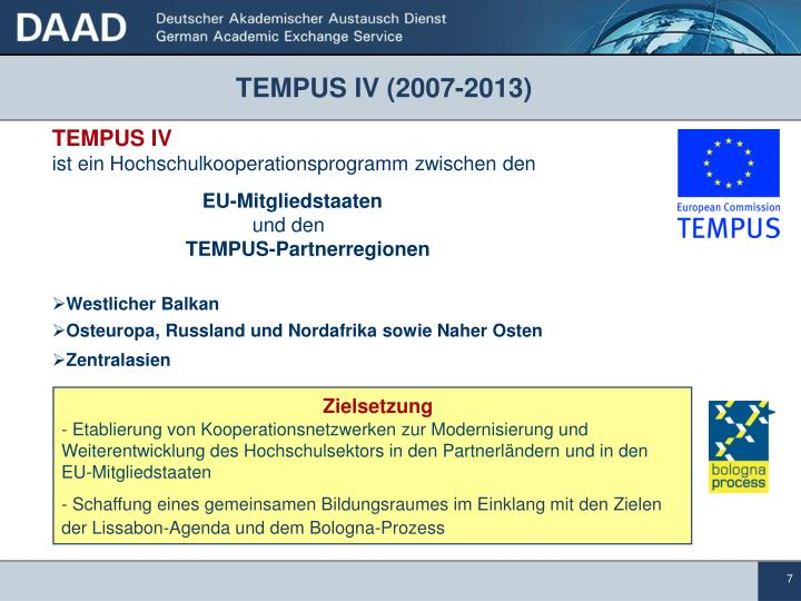 TEMPUS IV (2007-2013)