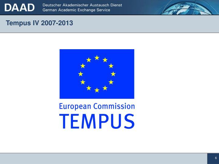 Tempus IV 2007-2013