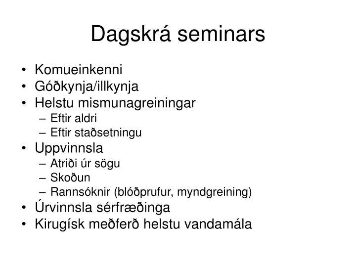 Dagskrá seminars
