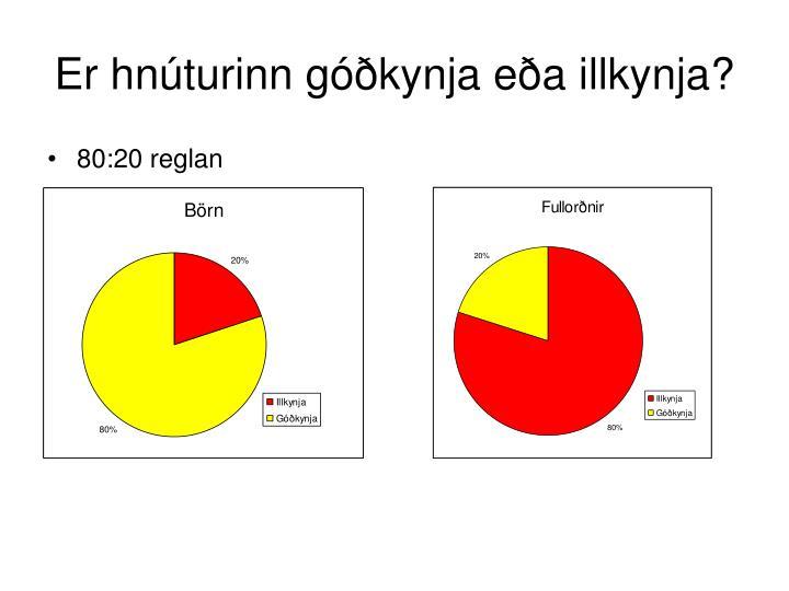 Er hnúturinn góðkynja eða illkynja?