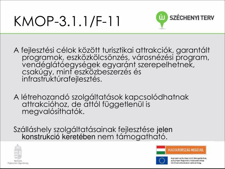 KMOP-3.1.1/F-11