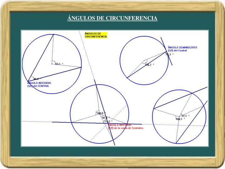 ÁNGULOS DE CIRCUNFERENCIA
