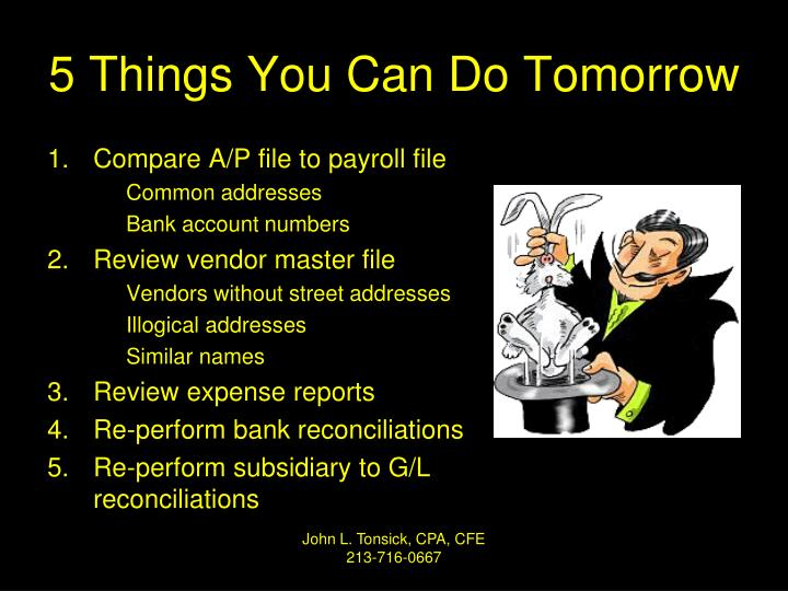 5 Things You Can Do Tomorrow