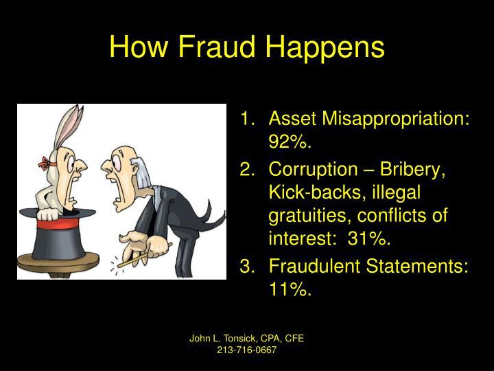 How Fraud Happens