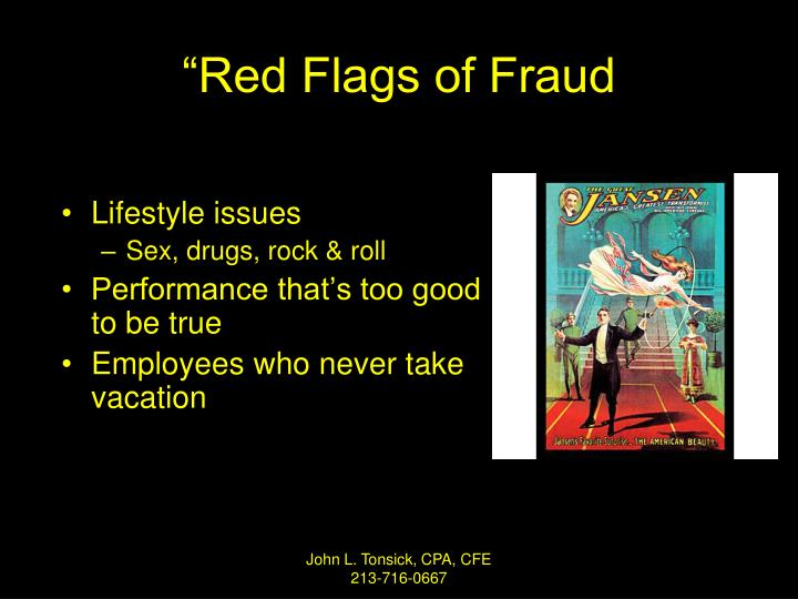 """""""Red Flags of Fraud"""