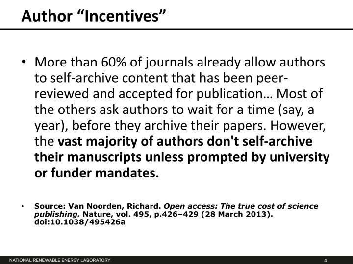 "Author ""Incentives"""