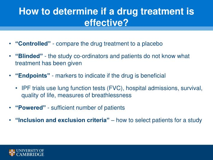 How to determine if a drug treatment is effective