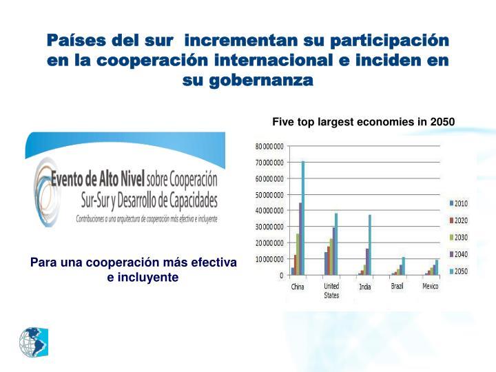 Países del sur  incrementan su participación en la cooperación internacional e inciden en su gobernanza
