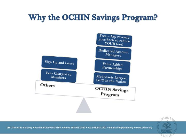 Why the OCHIN Savings Program?