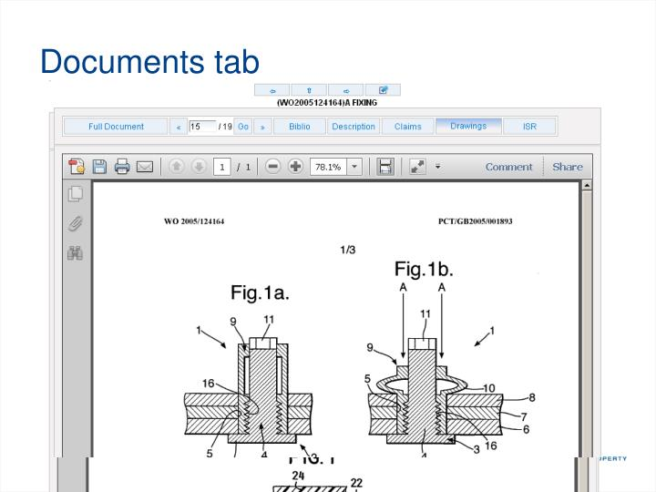 Documents tab