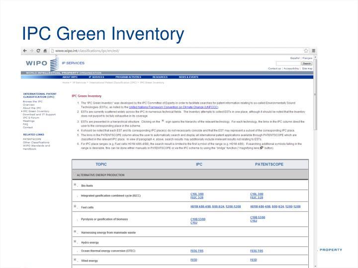 IPC Green Inventory