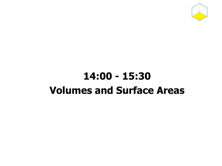 14 00 15 30 volumes and surface areas