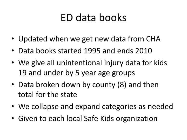 ED data books