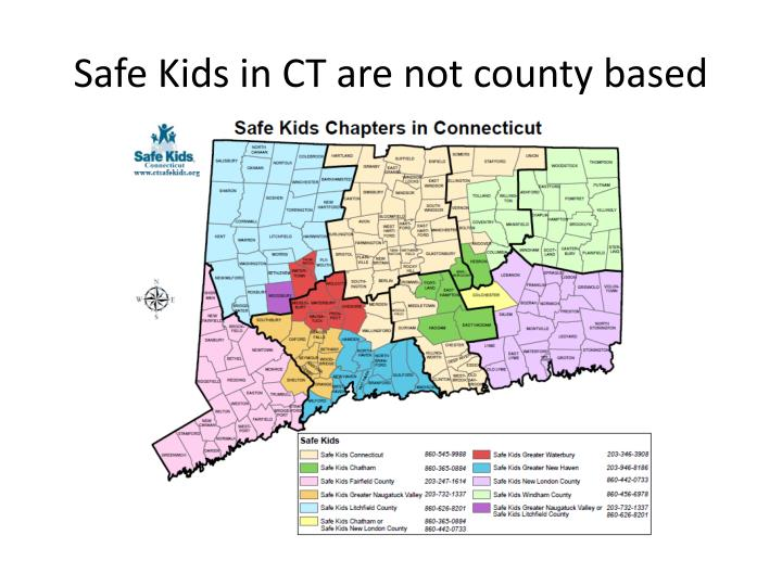 Safe Kids in CT are not county based