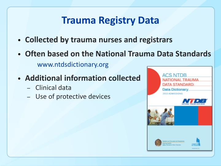 Trauma Registry Data