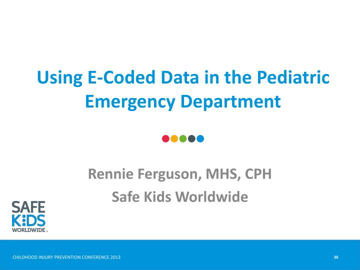 Using E-Coded Data in the Pediatric Emergency Department