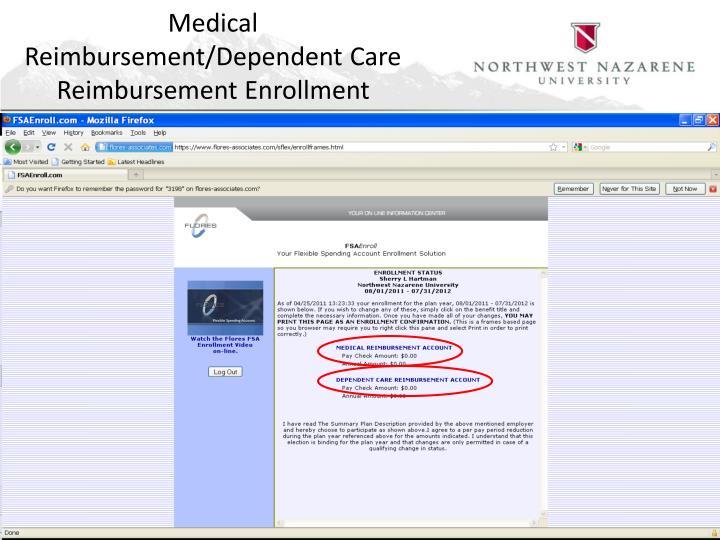 Medical Reimbursement/Dependent Care Reimbursement Enrollment