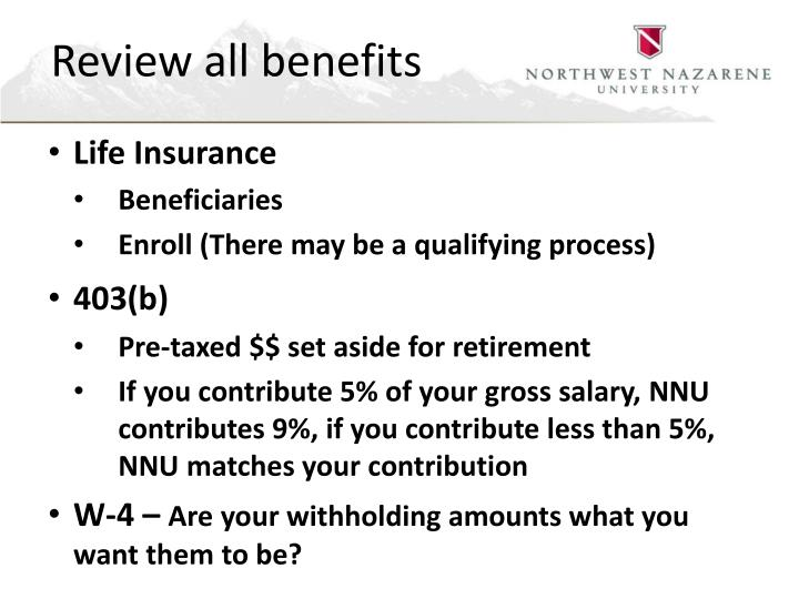 Review all benefits