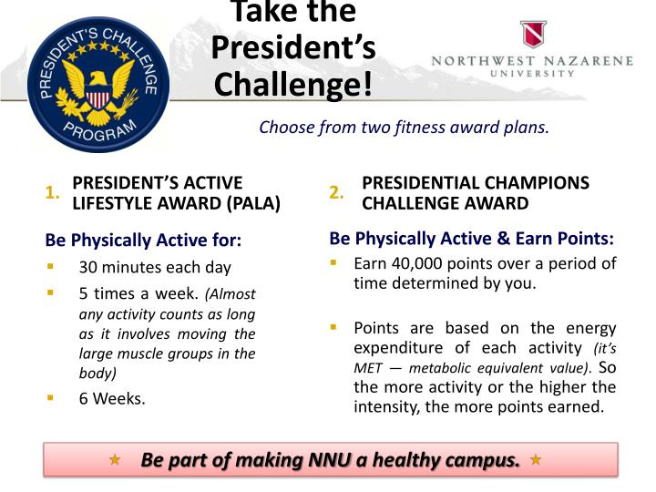 Take the president s challenge