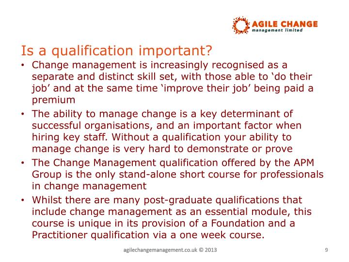 Is a qualification important?