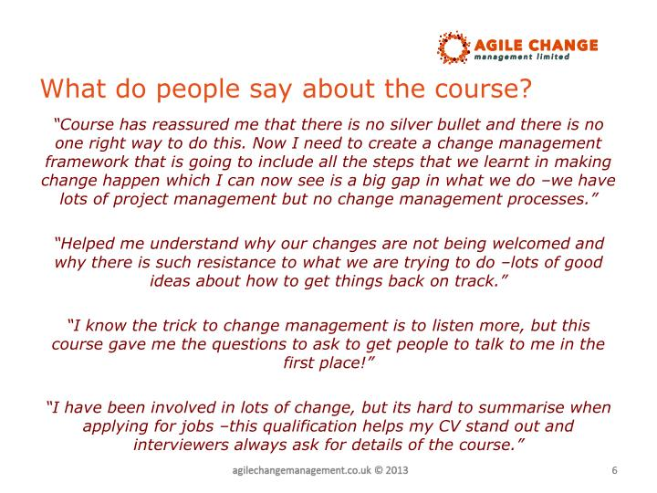 What do people say about the course?