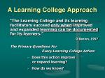 a learning college approach