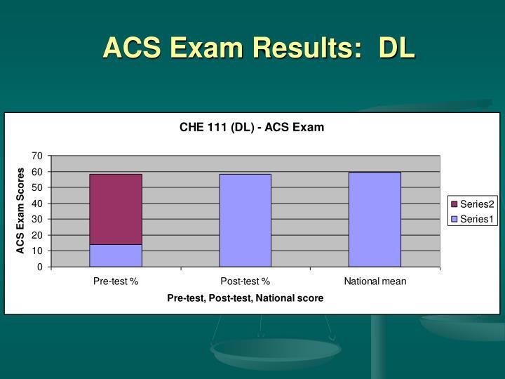 ACS Exam Results:  DL