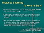distance learning is here to stay