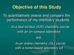 objective of this study