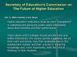 secretary of education s commission on the future of higher education1