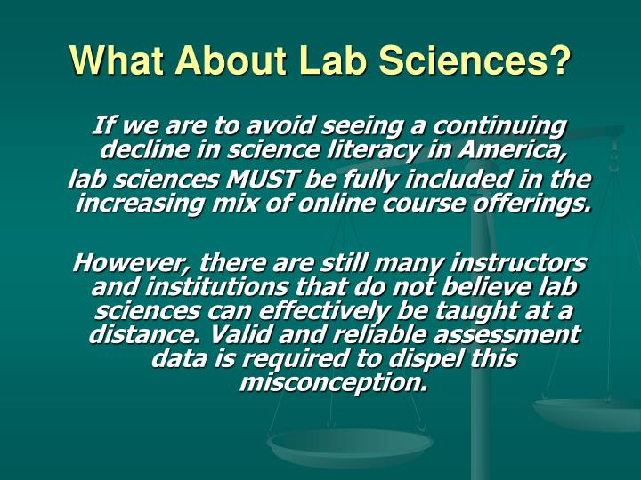 What About Lab Sciences?