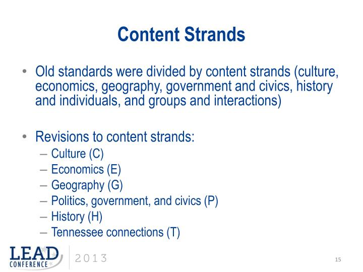 Content Strands