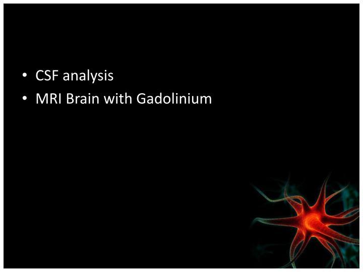CSF analysis