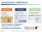 overall proactive gcm features