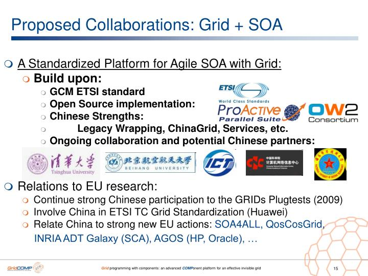 Proposed Collaborations: Grid + SOA