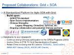 proposed collaborations grid soa