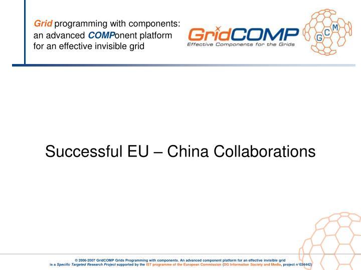 Successful EU – China Collaborations