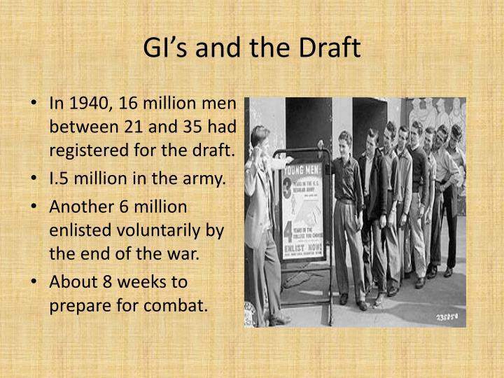 GI's and the Draft