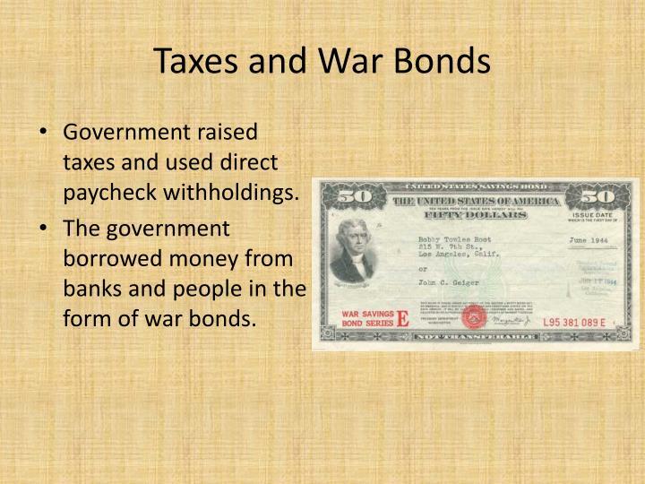 Taxes and War Bonds