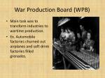 war production board wpb