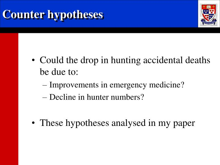 Counter hypotheses