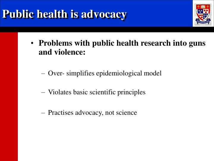 Public health is advocacy