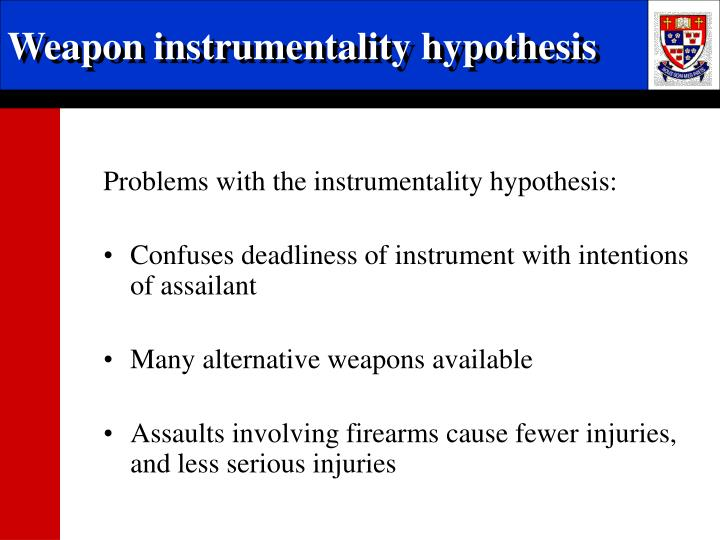 Weapon instrumentality hypothesis